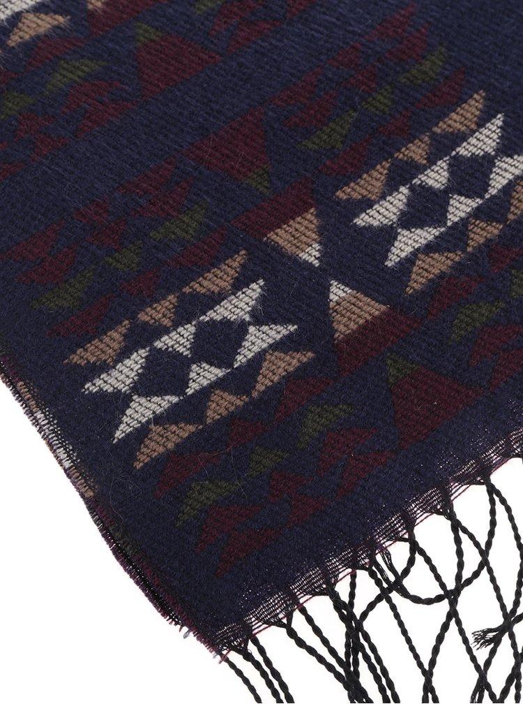 Tmavě modrá šála se vzorem Haily´s Azteken Schal