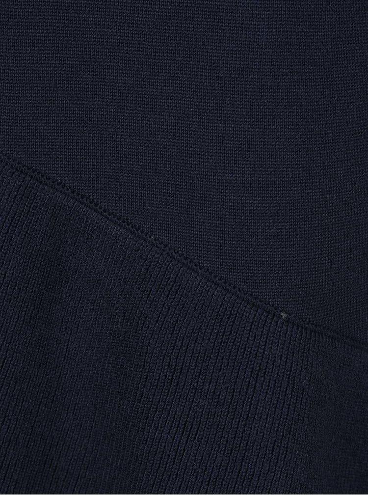 Tmavě modrý asymetrický rolák s 3/4 rukávem VILA Tin