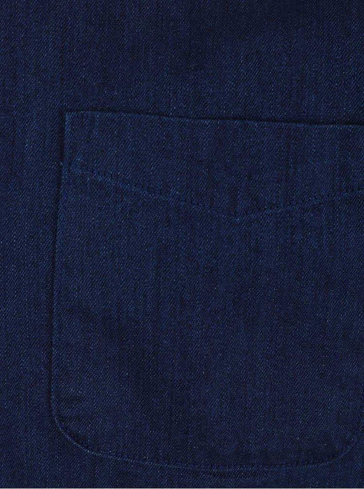 Tmavě modrá denimová košile Burton Menswear London