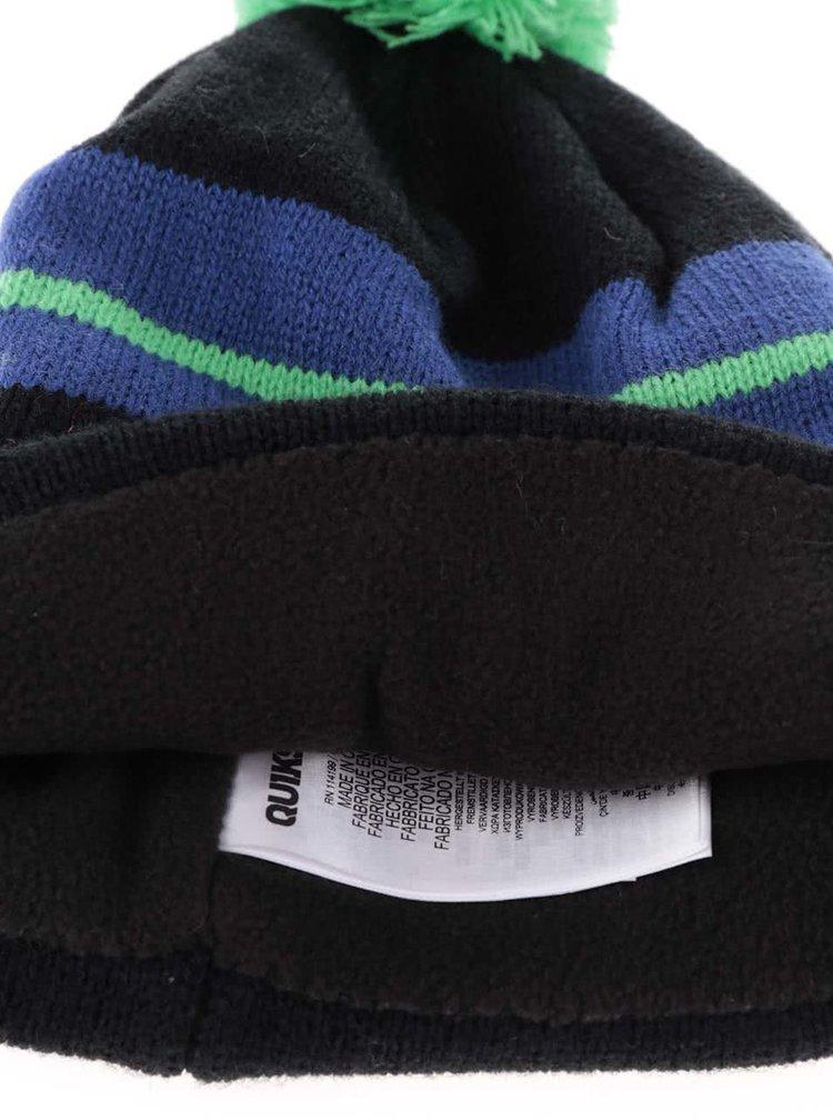 Modro-černá klučičí zimní čepice Quiksilver