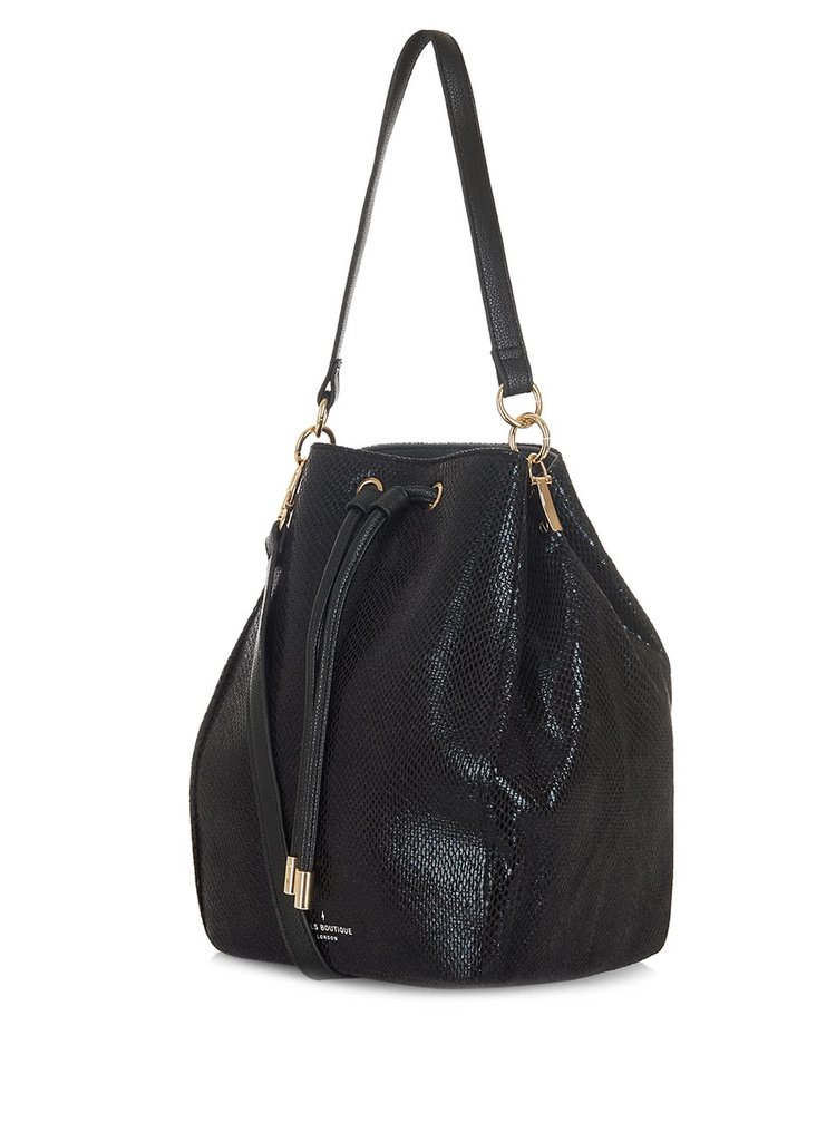 Geanta sac neagra cu model sarpe Paul's Boutique Hattie
