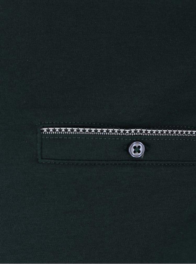 Tmavě zelené polo triko s kapsou Burton Menswear London