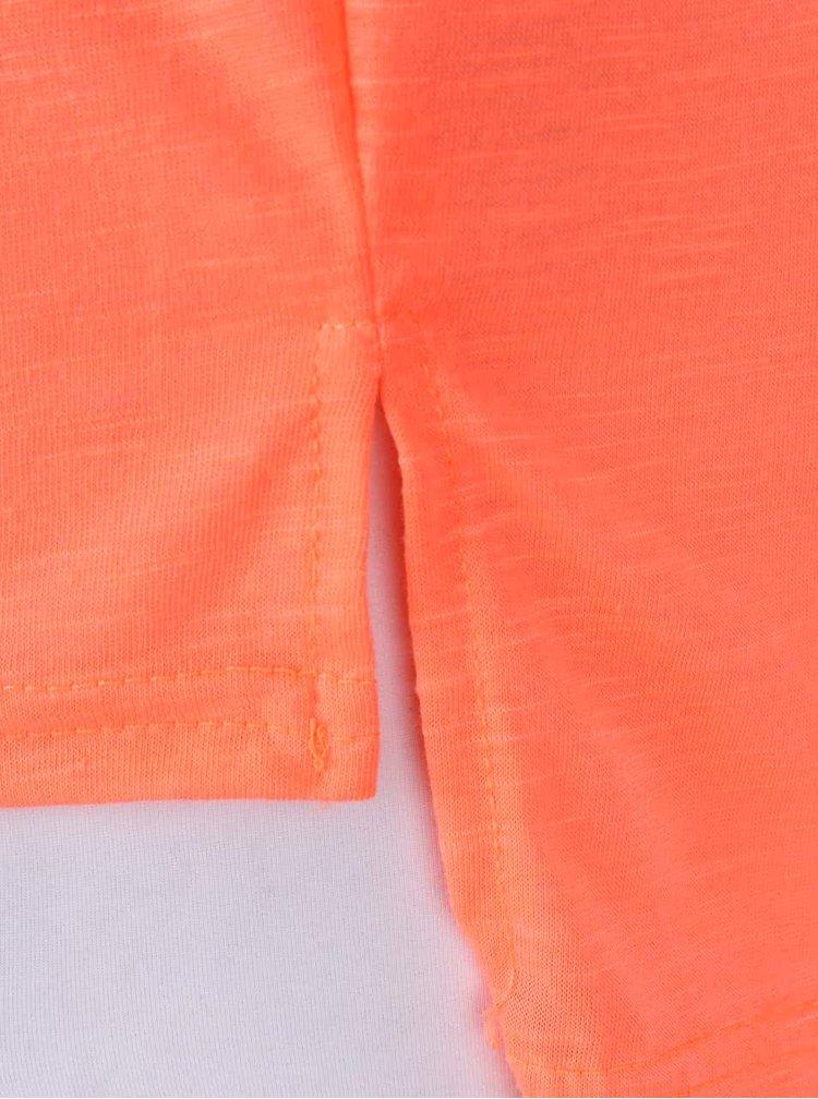 Neonově oranžové tílko s potiskem Madonna