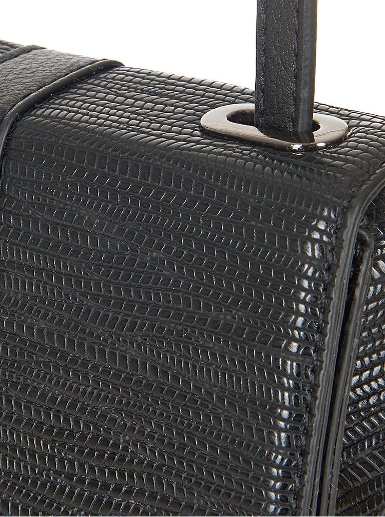 Čierna vzorovaná menšia crossbody kabelka Paul's Boutique Agnes