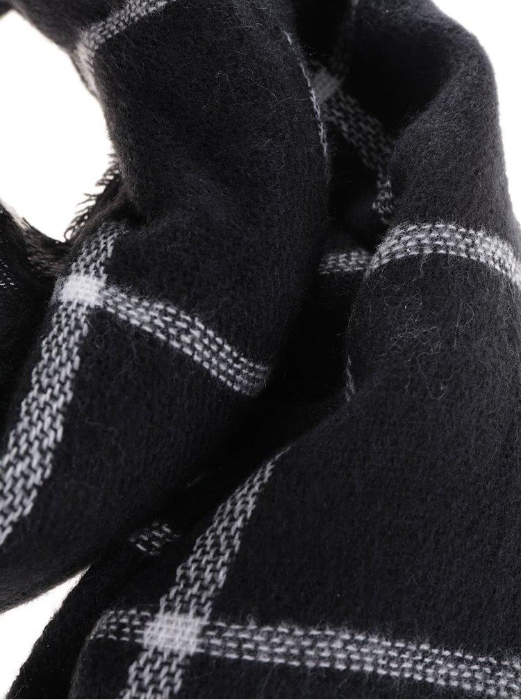 Černá kostkovaná šála Haily´s Schal Rechteck