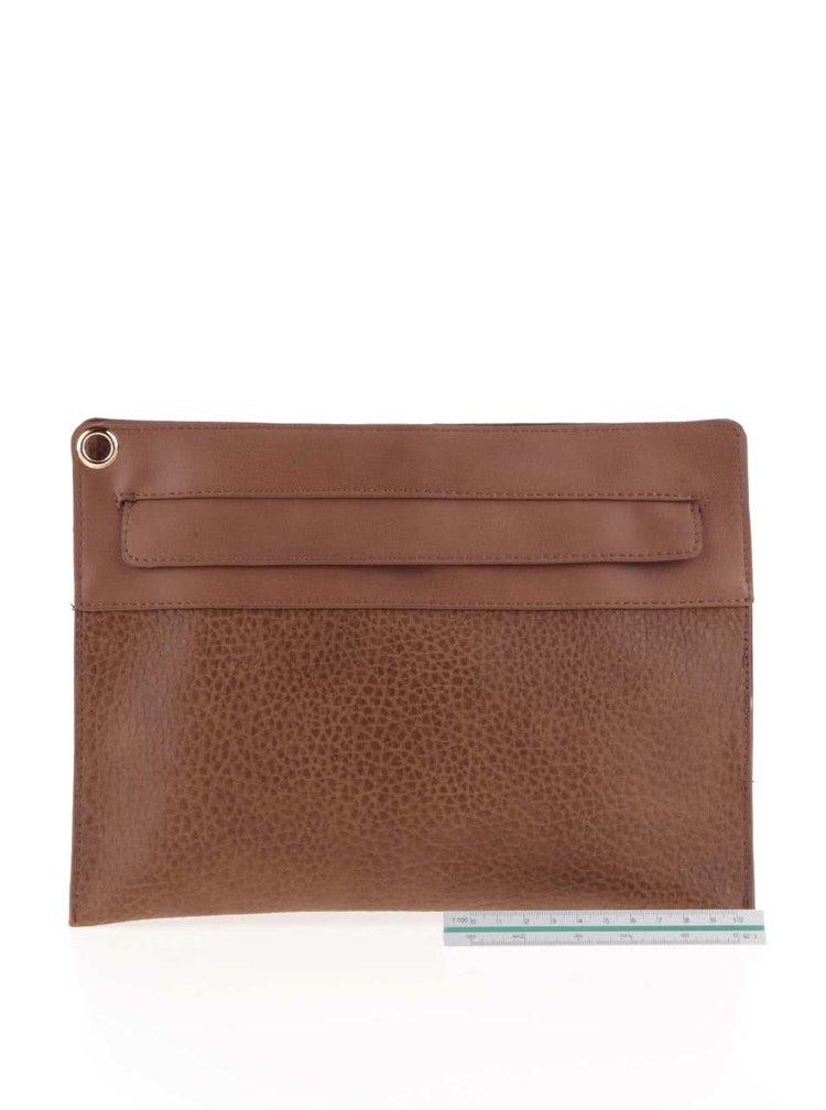 Hnedá listová kabelka Pieces Andore