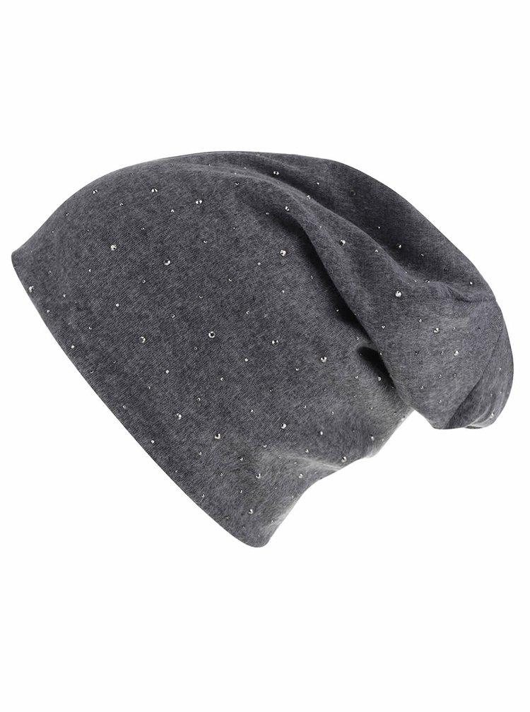 Tmavě šedá čepice Haily´s Mütze Strass