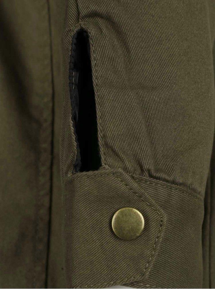 Khaki lehká parka s kapucí AX Paris