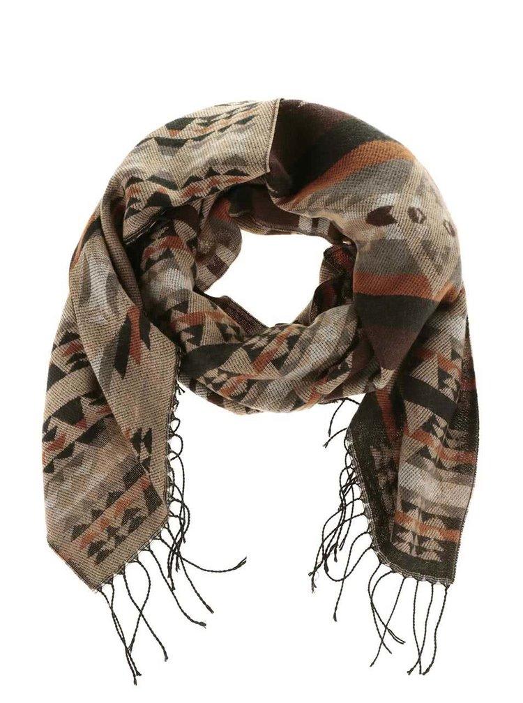 Hnedý šál so vzorom Haily´s Azteken Schal