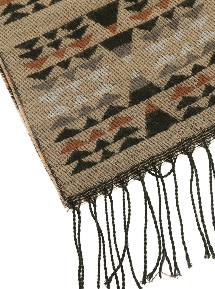 Hnědá šála se vzorem Haily´s Azteken Schal