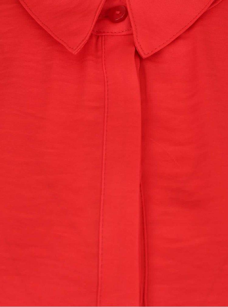 Červená halenka s dlouhým rukávem VILA Melli