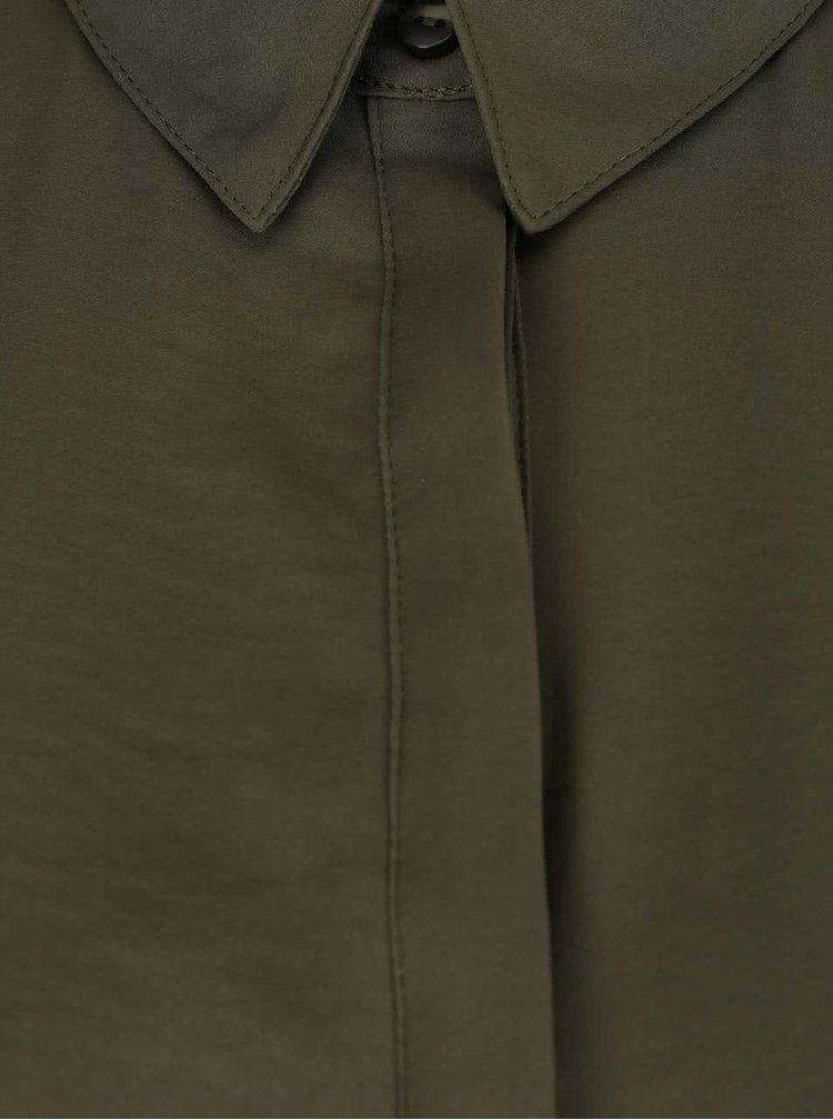 Khaki halenka s dlouhým rukávem VILA Melli