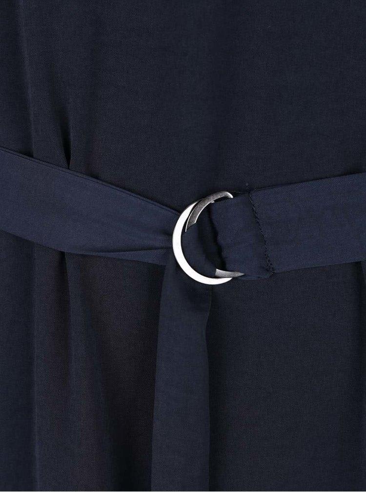 Rochie albastru închis VILA Melli cu cordon în talie
