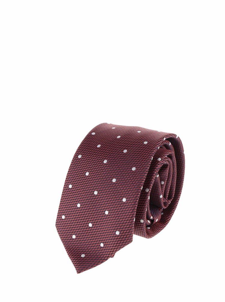 Červená kravata s puntíky Burton Menswear London