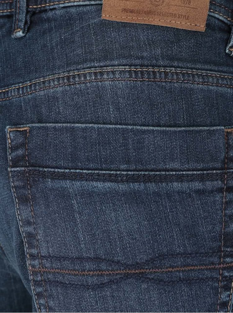 Jeanși albastru închis cu aspect prespălat bugatti