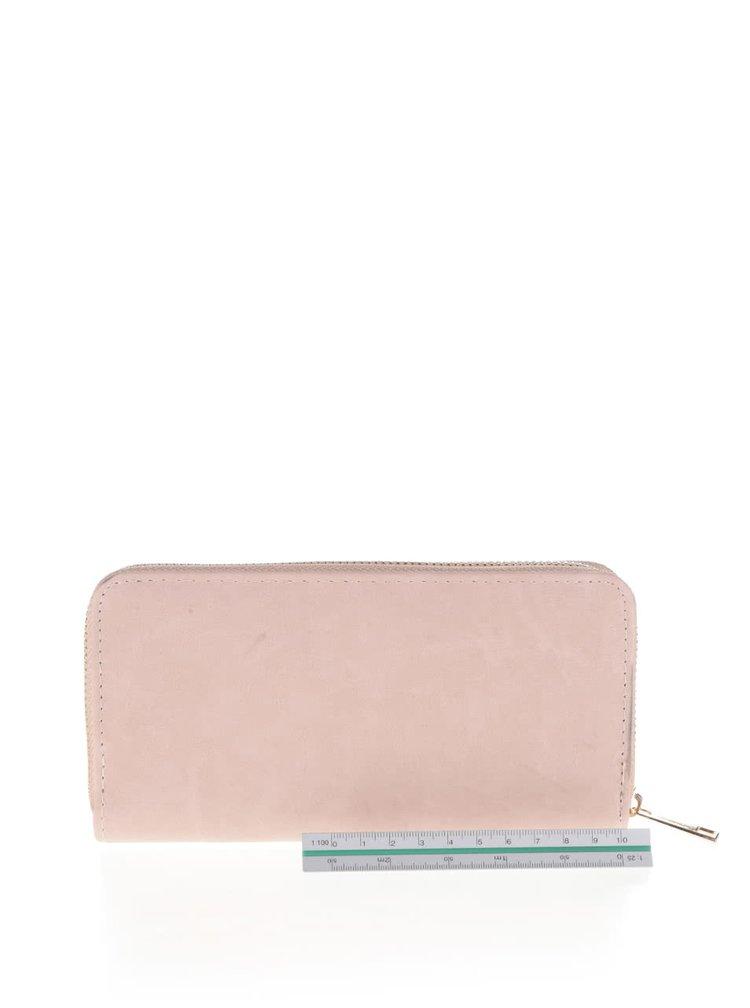 Hnedo-ružová peňaženka s trblietavým pruhom v zlatej farbe Haily's Glitter