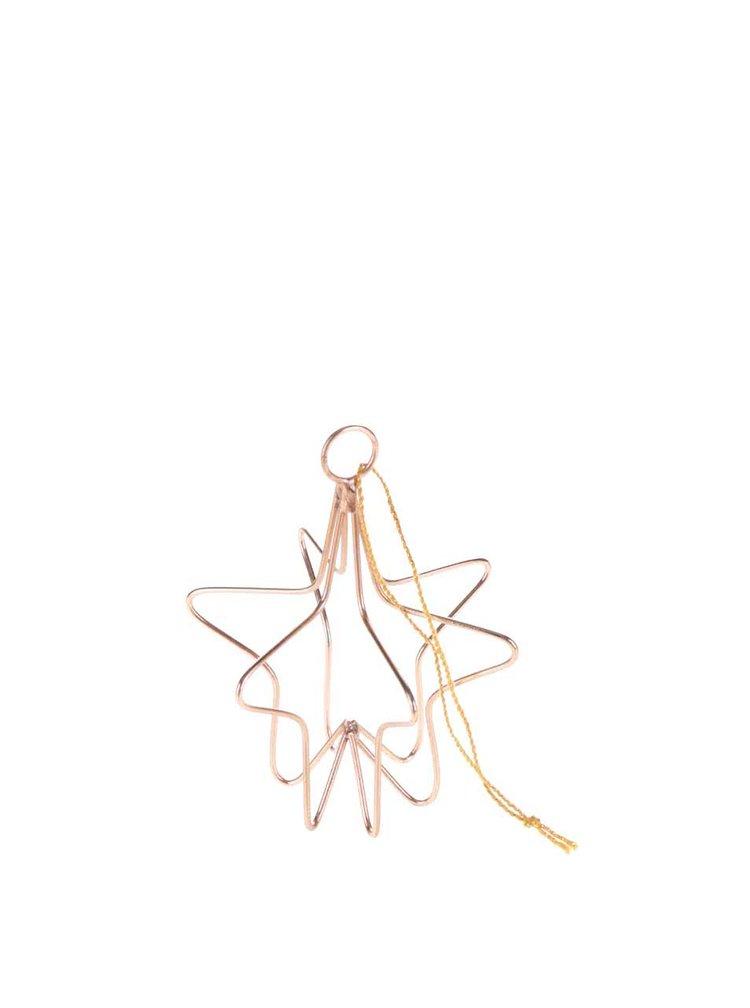 Decorațiune de culoarea cuprului Sass & Belle în formă de stea