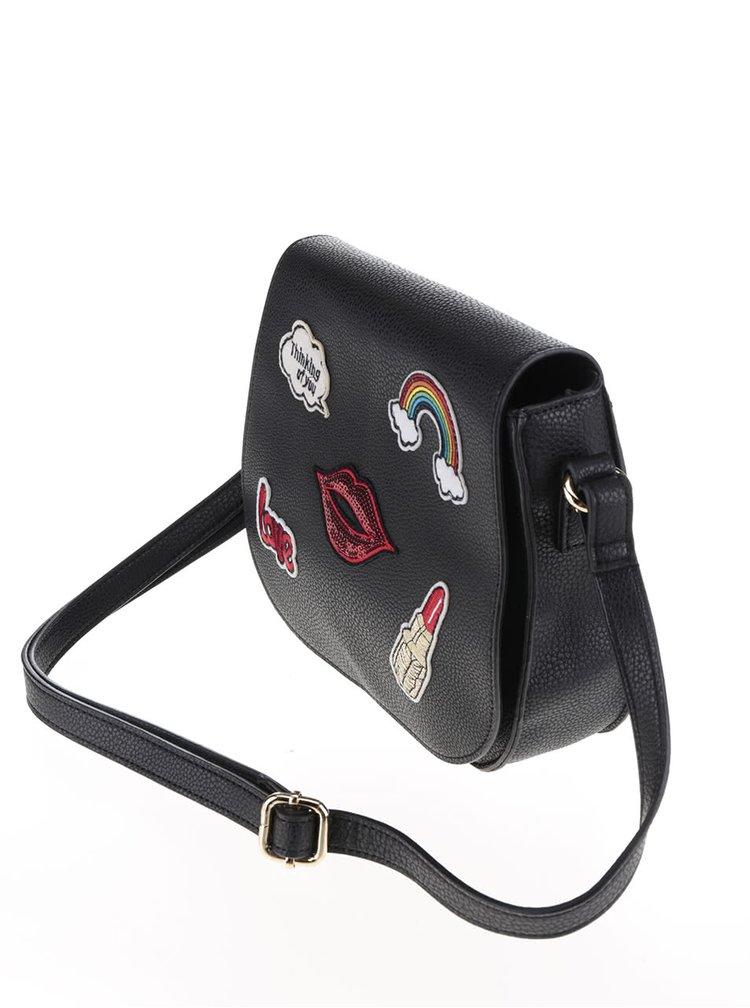 Geantă crossbody neagră Haily´s Evelin cu aplicații