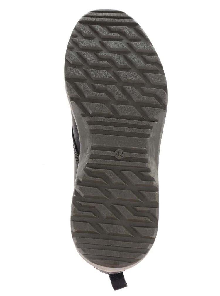 Černé pánské kožené kotníkové boty Bullboxer