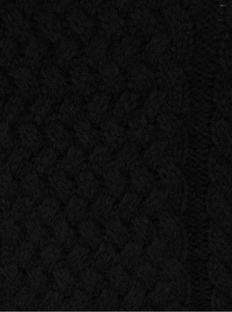 Černý vzorovaný svetr Haily´s Nelly