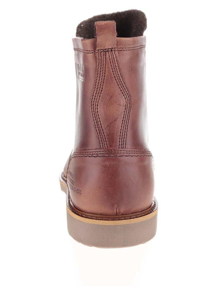 Hnědé pánské kožené kotníkové boty Bullboxer