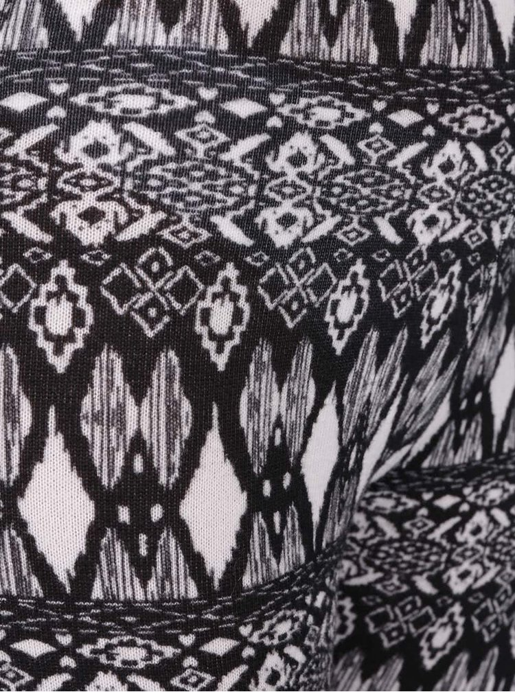 Krémovo-černé vzorované legíny Haily´s Ola
