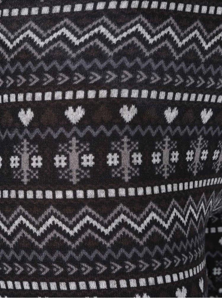 Šedo-černé vzorované legíny Haily´s Ola