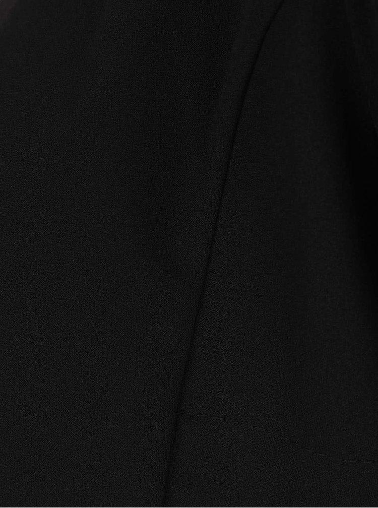 Černý krátký blejzr s 3/4 rukávy a mašlí Haily´s Liz