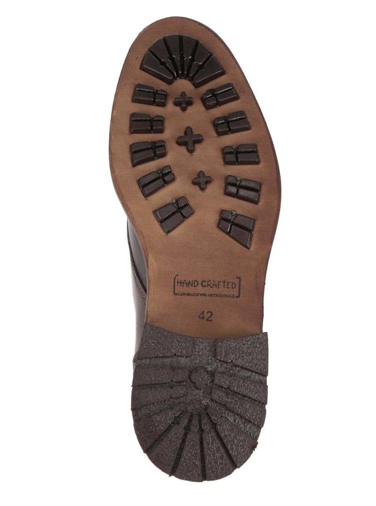 Tmavě hnědé pánské kožené boty Bullboxer