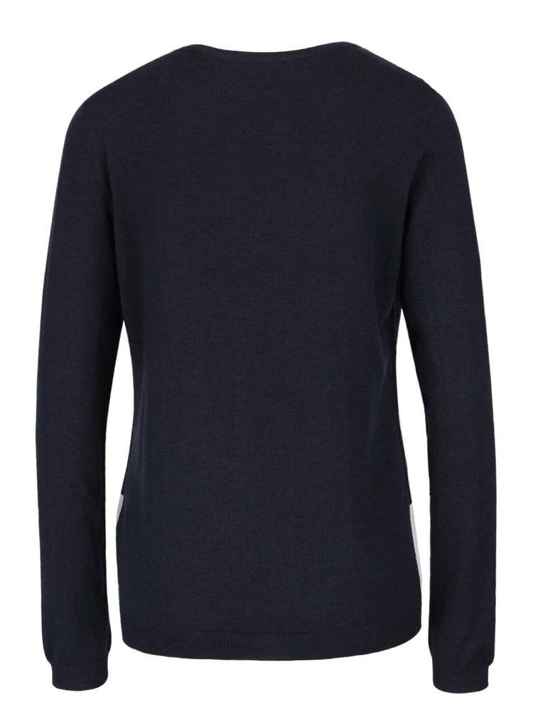 Tmavě modrý svetr s vánočním motivem ONLY X-Glory