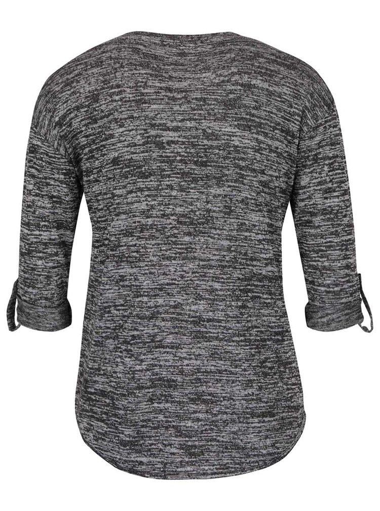 Šedé žíhané tričko s 3/4 rukávem Haily´s Emma