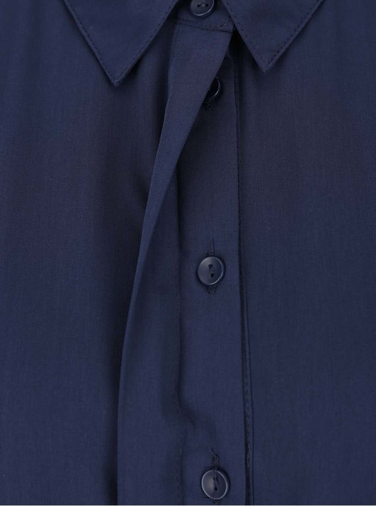 Tmavě modré košilové šaty s páskem VERO MODA Adele