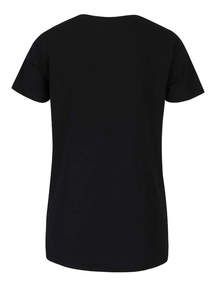 Čierne tričko s potlačou ONLY Minnie