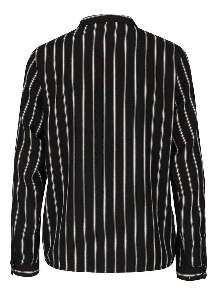 Krémovo-černá pruhovaná košile ONLY Evig