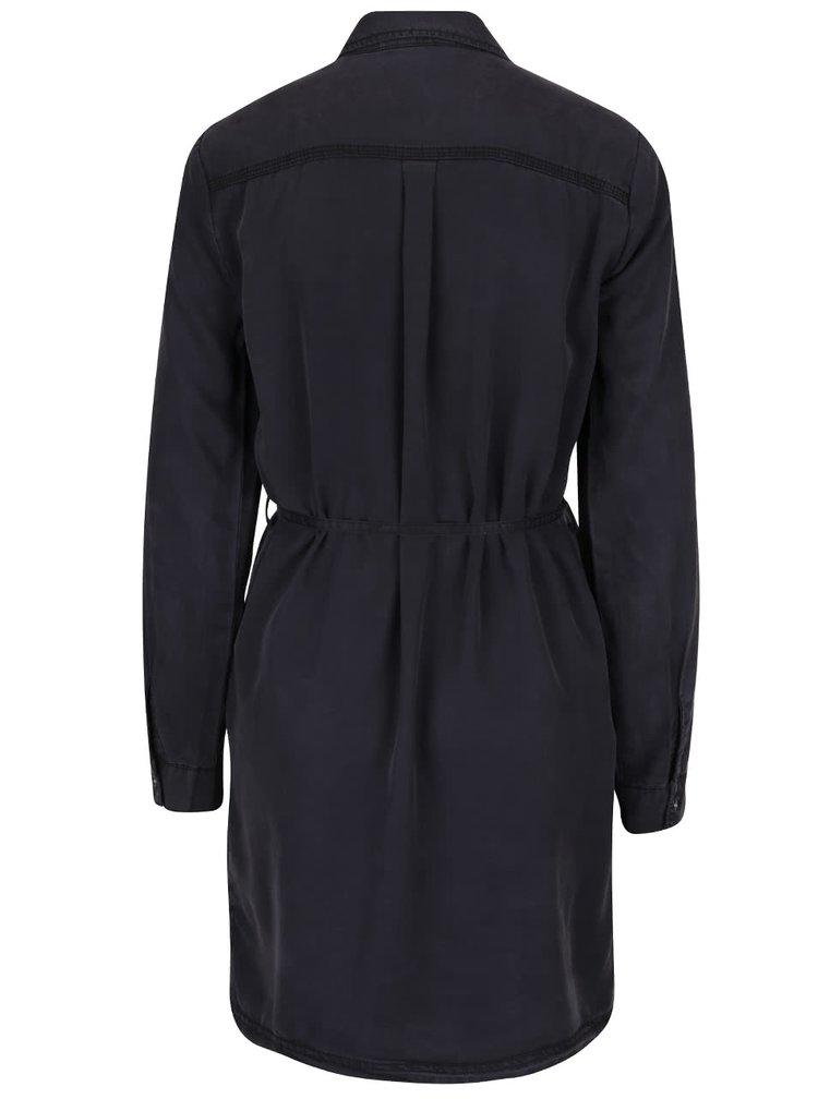 Tmavosivé košeľové šaty Noisy May Egil