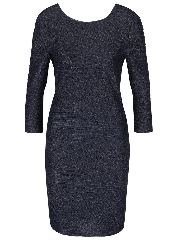 Tmavě modré třpytivé šaty Noisy May Heaven