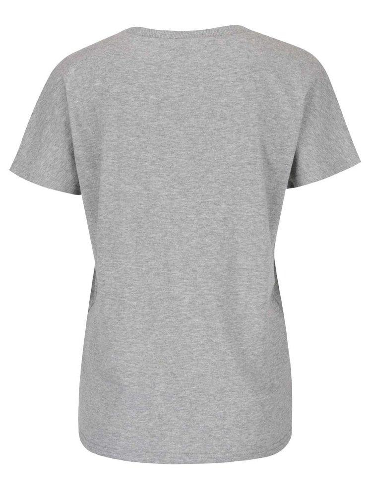 Svetlosivé tričko s leopardím vzorom ONLY Dana