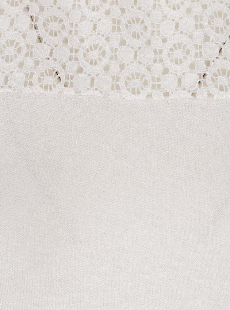 Krémové tričko s krajkovým sedlem Haily´s Livia