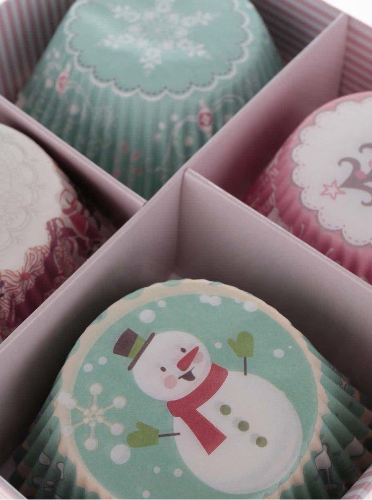 Sada 100 ks papírových košíčků na pečení s vánočním motivem Dakls