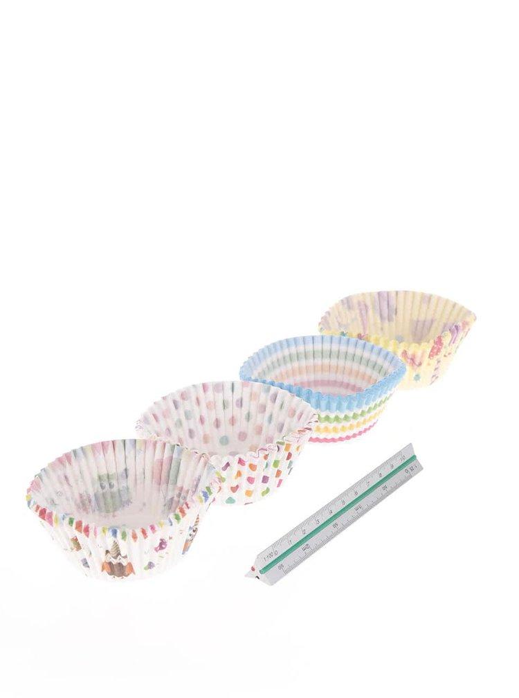 Súprava 100 ks farebných papierových košíčkov na pečenie Dakls