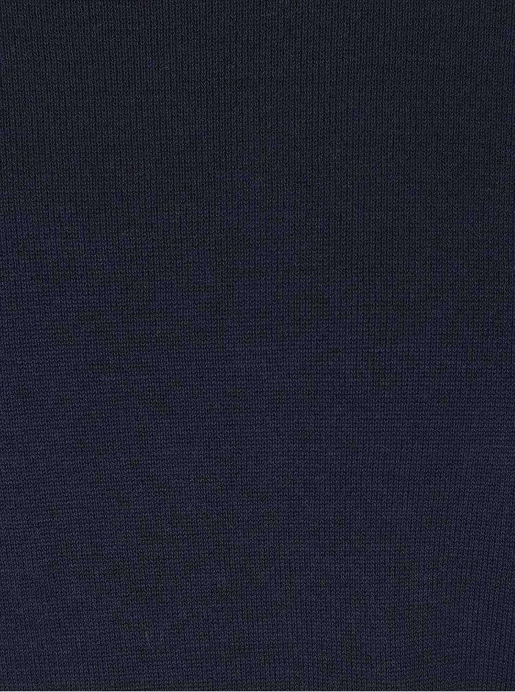 Pulover albastru inchis cu decolteu rotund s.Oliver