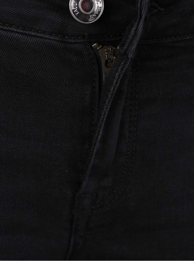 Černé skinny džíny s potrhaným efektem TALLY WEiJL
