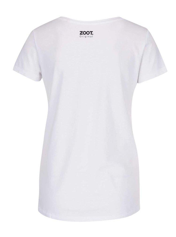 Biele dámske tričko ZOOT Originál Raňajky u Tiffanyho