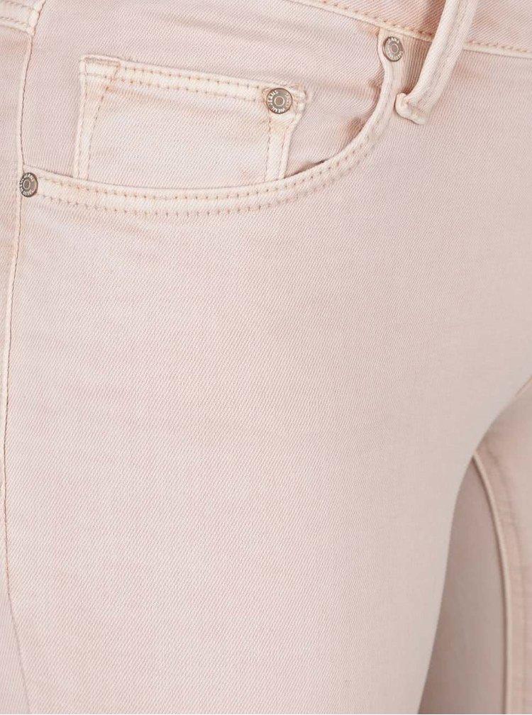 Světle růžové skinny džíny s nízkým pasem TALLY WEiJL