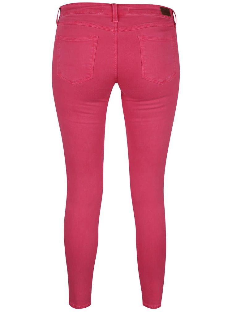 Růžové skinny džíny s nízkým pasem TALLY WEiJL
