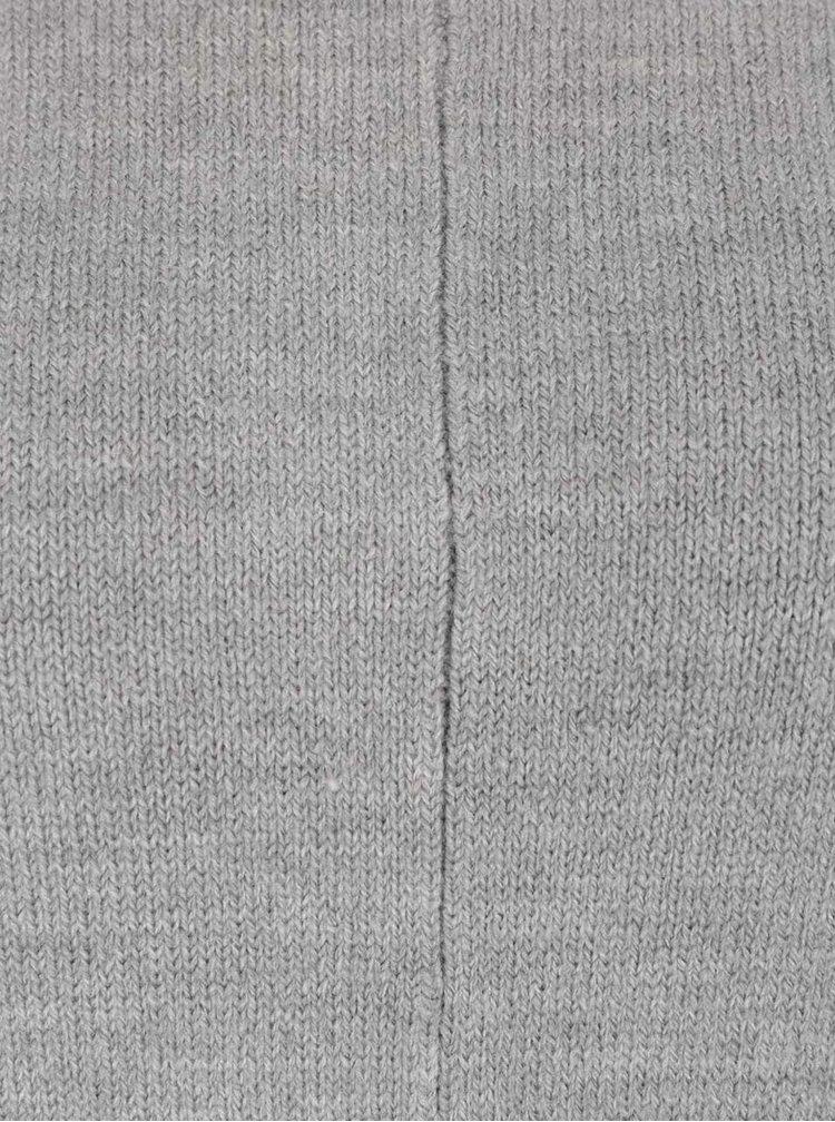 Šedý lehký svetr na zavazování TALLY WEiJL