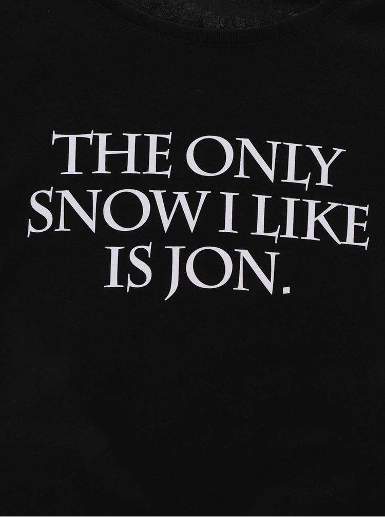 Tricou negru de dama ZOOT Original The only snow I like