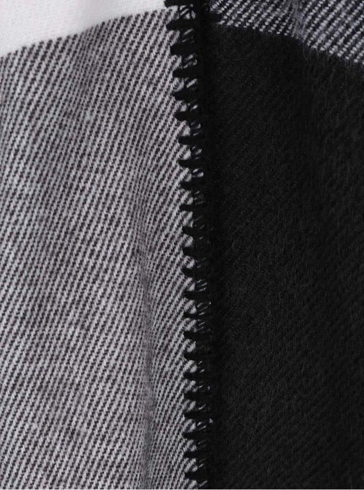 Poncho negru & gri TALLY WEiJL cu imprimeu