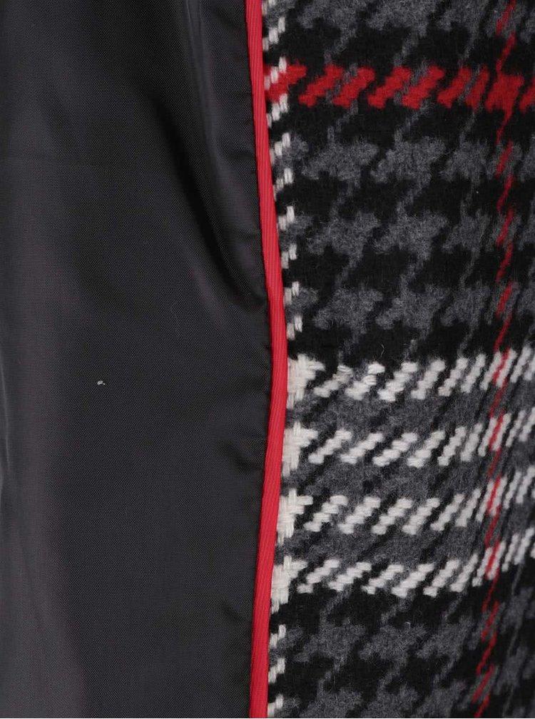 Šedo-krémový vzorovaný kabát Dorothy Perkins