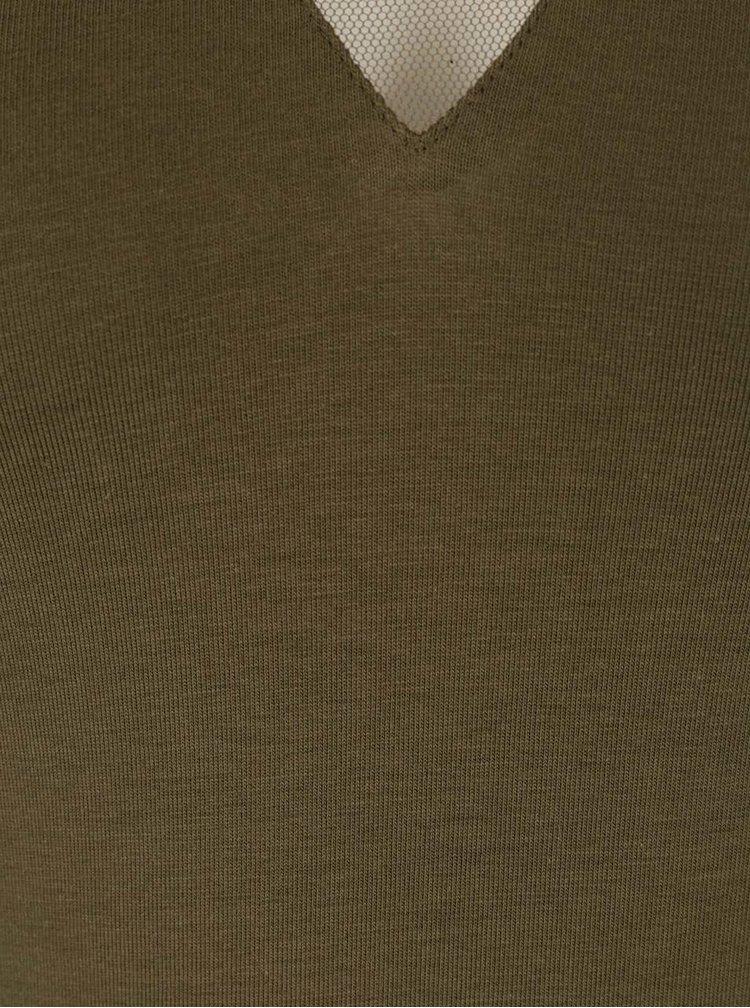 Olivové body s 3/4 rukávem TALLY WEiJL